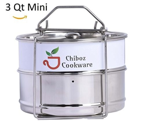 Instant Pot Accessories 3 qt Mini Stackable Stainl...