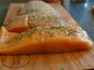 Learning How to Cook Salmon Fillets