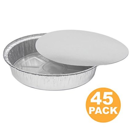 Round 9 Inch Disposable Aluminum Foil Pan Take Out Food Cont...