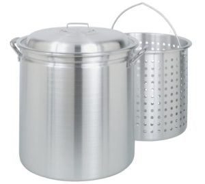 Bayou Classic 4060 60-Quart All Purpose Aluminum Stockpot with Steam a…