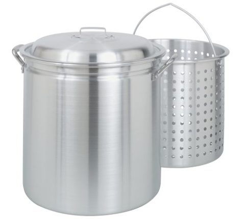 Bayou Classic 4060 60-Quart All Purpose Aluminum Stockpot with Steam a...