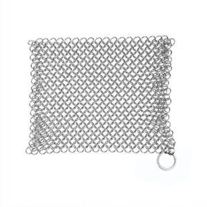 Cast Iron Cleaner, Stainless Steel Chainmail Scrub…