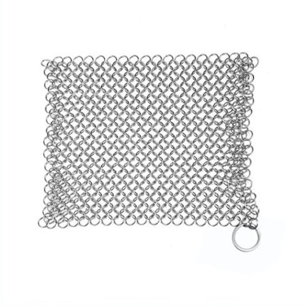 Cast Iron Cleaner, Stainless Steel Chainmail Scrub...