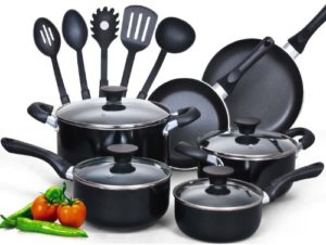 Cook N Home 15-Piece Nonstick Stay Cool Handle Coo...