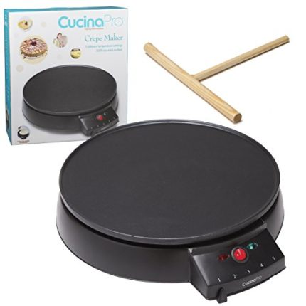 "Crepe Maker and Non-Stick 12"" Griddle- Electric Cr..."