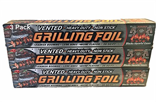 Grilling Foil - Barbecue Accessory Vented with Hol...