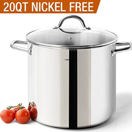 HOMi CHEf Commercial Grade Stainless Steel Stock Pot 20 Quart With Lid...