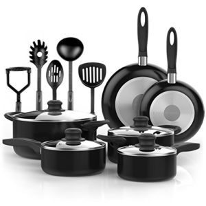 Vremi 15 Piece Nonstick Cookware Set; 2 Saucepans …
