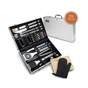 Vysta 29 Piece BBQ Tools Set – Barbecue Accessories With Carrying Case…