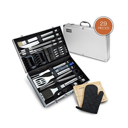 Vysta 29 Piece BBQ Tools Set - Barbecue Accessories With Carrying Case...