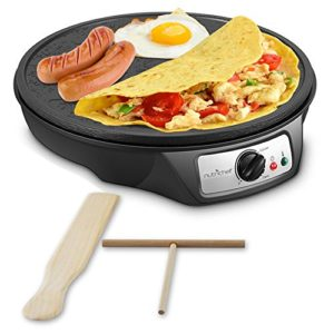 Electric Griddle Crepe Maker Cooktop – Nonstick 12…