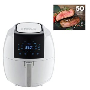 GoWISE USA GW22735 8-in-1 Air Fryer XL Quart, 5.8-QT, White