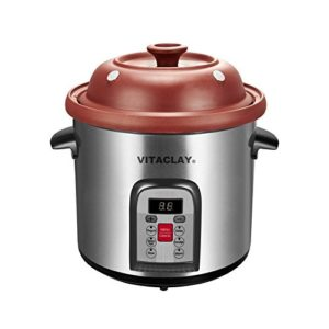 Vitaclay VM7800-5C Smart Organic Clay Multi-Crocks N' Stock Pot, 6.5 q…