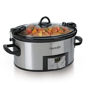 Crock-Pot 6-Quart Programmable Cook & Carry Slow Cooker with Digital T…