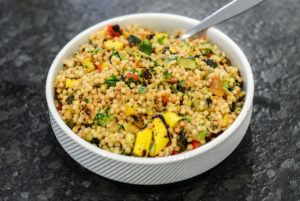 Grilled Vegetables and Israeli Couscous Salad Recipe.