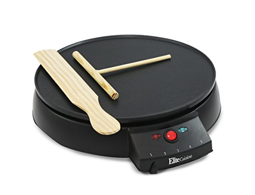 Elite Cuisine ECP-126 Electric Crepe Maker and Non...