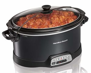 Hamilton Beach Programmable Slow Cooker, 7-Quart with Lid Latch Strap,…