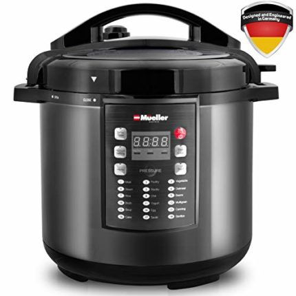 MUELLER Pressure Cooker 10-in-1 Pro Series 19 Program 6Q with German T...