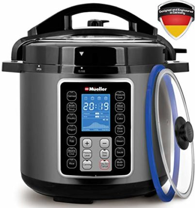 Mueller UltraPot 10-in-1 Pro Series 6Q Pressure Cooker with German The...