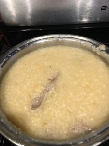 Lugaw. Filipino rice porridge with lots of spices and chicken. You serve it…