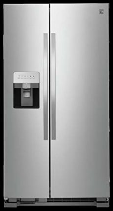 Kenmore 50043 25 cu. ft. Side-by-Side Refrigerator with Water and Ice Dispenser in Stainless Steel, ...