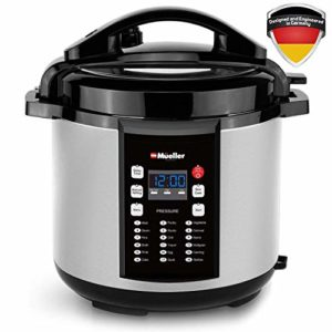 Mueller 10-in1 Pro Series 18 Smart Program Pressure Cooker | German Th…