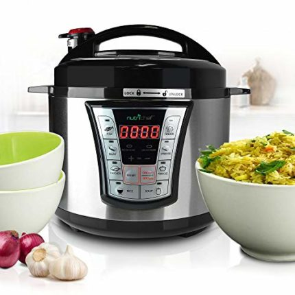 Stainless Steel Electric Pressure Cooker - 5 Quart Programmable Digita...