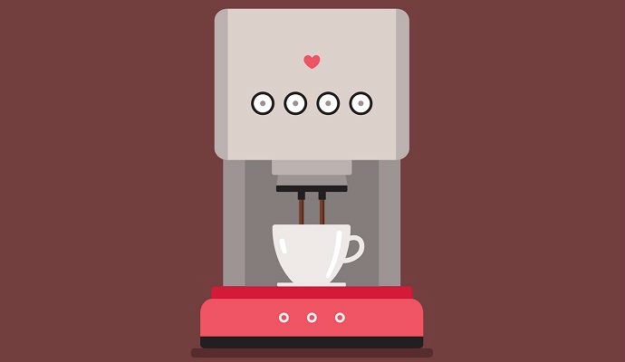 An illustration of a coffee machine