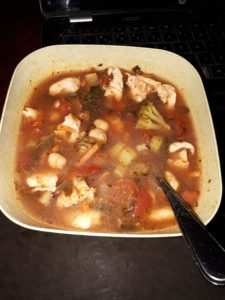 Bad pic but soup i made out of veggies i wanted to get rid of. : soup