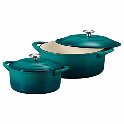 Tramontina 80131/679DS Enameled Cast Iron Covered Round Dutch Oven Combo, 2-Piece (7-Quart & 4-Quart...
