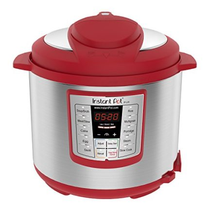Instant Pot Lux 6 Qt Red 6-in-1 Muti-Use Programmable Pressure Cooker, Slow Cooker, Rice Cooker, Sau...