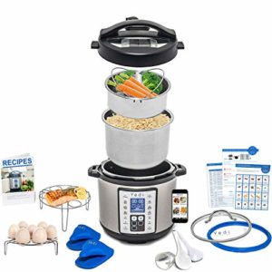 Total Package 9-in-1 Instant Programmable Pressure Cooker, comes with more Accessories than any Inst…