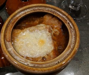 31 Days of Soup, Day 31, Vegetarian Onion Soup Gratin