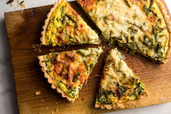 Broccoli and Sausage Pie Recipe with a Whole Wheat Pie Crust Recipe