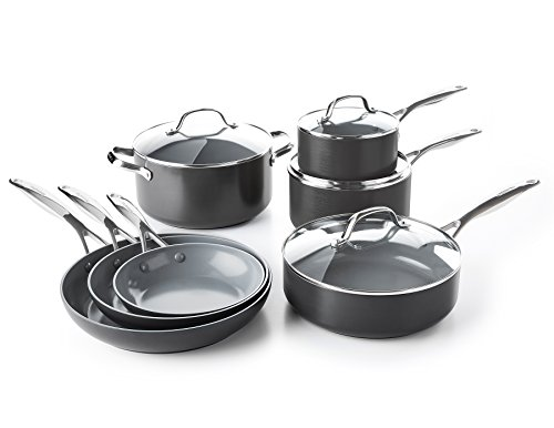 GreenPan CC000675-001 Valencia Pro Hard Anodized 100% Toxin-Free Healthy Ceramic Nonstick Metal Uten…