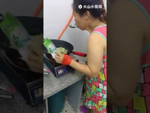 Funny women cooking video