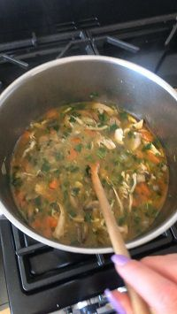 I just made the yummiest chicken soup/broth! It was meant to be chicken noodle soup but I decided ag…