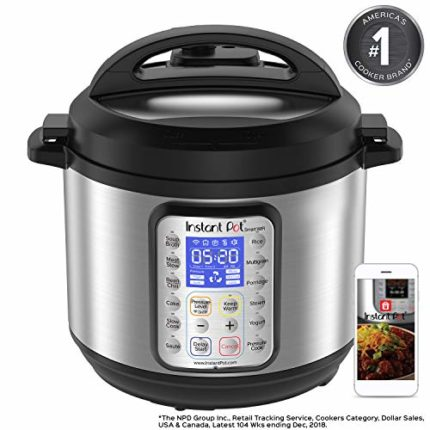 Instant Pot Smart WiFi 6 Quart Multi-use Electric Pressure, Slow, Rice Cooker, Yogurt, Cake Maker, S...