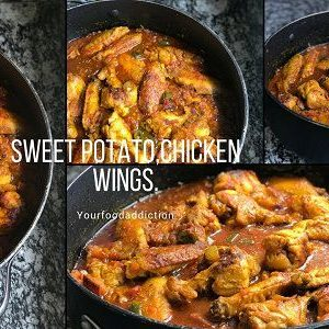Quick and easy sweet potato and chicken wing recipe | Cooking video