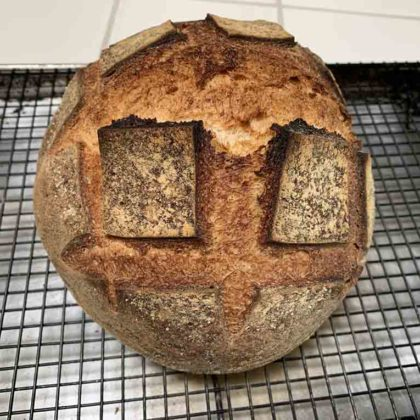 Today's bake 3-12-19: Sourdough bread with variable cold retardation
