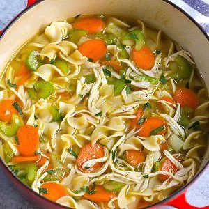 Chicken and Skinny Noodle Soup
