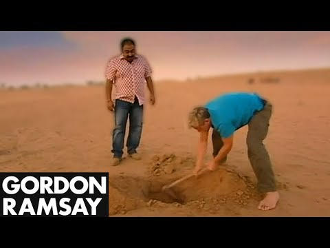 Building and Cooking in a Desert Oven with Gordon Ramsay Video.