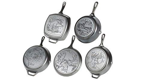 Lodge Wildlife Series - Seasoned Cast Iron Cookware with Wildlife Scenes. 5 Piece Iconic Collector S...
