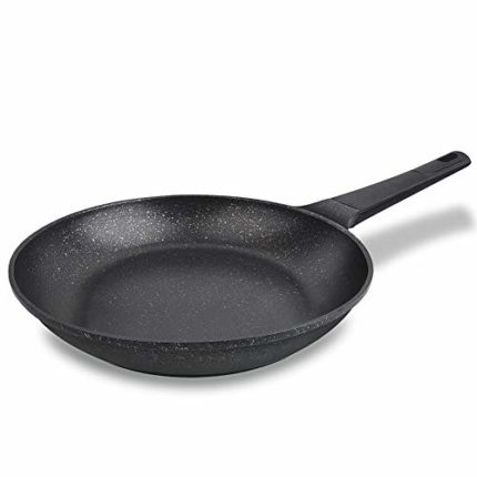 MaiChoice 11 Inch Nonstick Fry Pan, Specialty Medical Stone, Nonstick Cookware, Perfect for Induction Cooker and Ceramic Stove (Black)