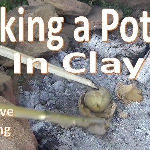 Baking a Potato in Clay (Primitive Cooking) Video.