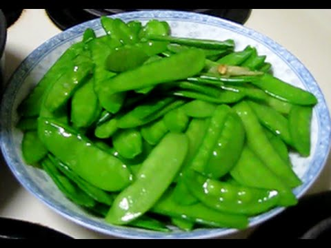 Cooking (SNOW PEA) How to Make Stir-Fried Snow Peas Perfectly   Snow Peas Stir Fry   Do It Yourself Video.