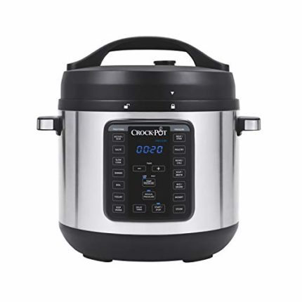 Crock-Pot 8-Quart Multi-Use XL Express Crock Programmable Slow Cooker and Pressure Cooker with Manua...