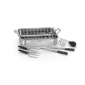 Cuisinart 7117-16PS Chef's Classic – 16″ Stainless Steel Roaster Pan, Silver