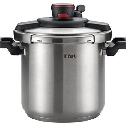T-fal P45009 Clipso Stainless Steel Dishwasher Safe PTFE PFOA and Cadmium Free 12-PSI Pressure Cooke…