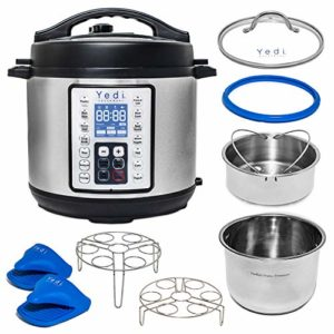 Yedi Total Package 9-in-1 Instant Programmable Pressure Cooker, Deluxe Accessory Kit, Recipes & 2Yr …